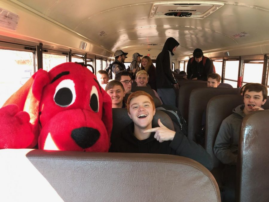 The NEHS wanted to capture Clifford's image in as many places as possible to show the Little Lancers what high school is like.