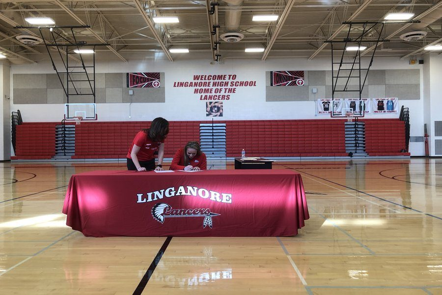 Fiona Rowan signs her National Letter of Intent to Shippensburg University.