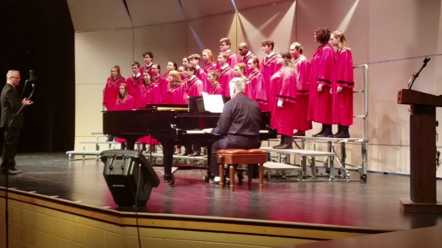 Linganore's concer choir performs at their adjudication.