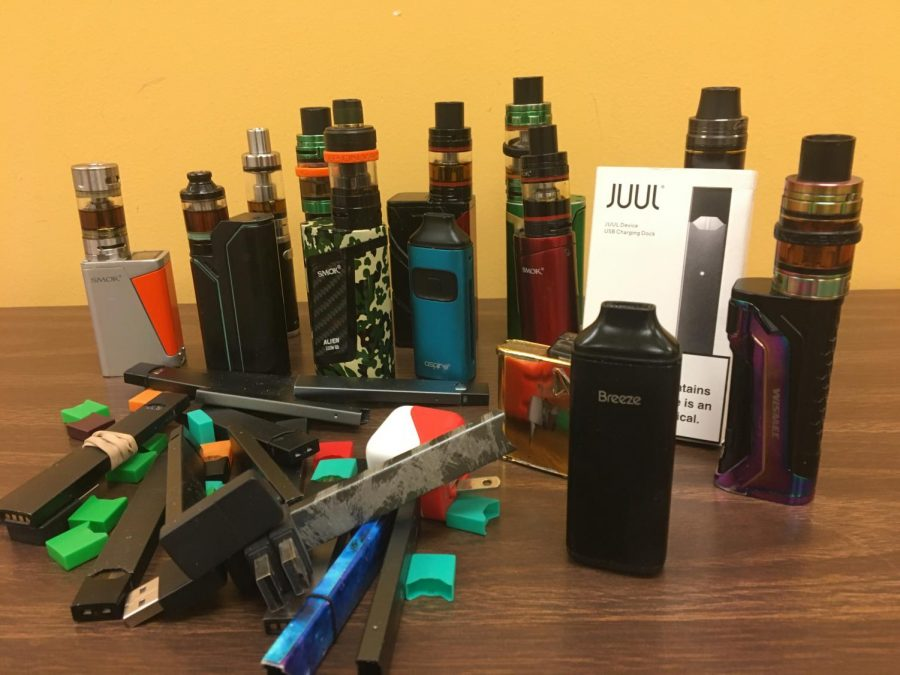 These represent some of the vape materials confiscated by the administration in 2018-2019.