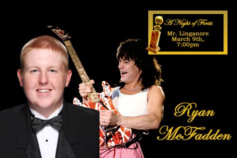 Ryan McFadden will be portraying Eddie van Halen at the Mr. Linganore show.