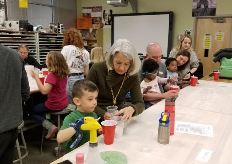 NAHS hosts slime making night: Photo of the Day 4/9/19
