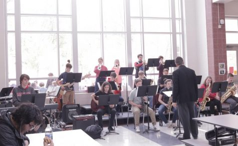 Jazz band plays during lunch for students to enjoy: Photo of the Day 4/30/19