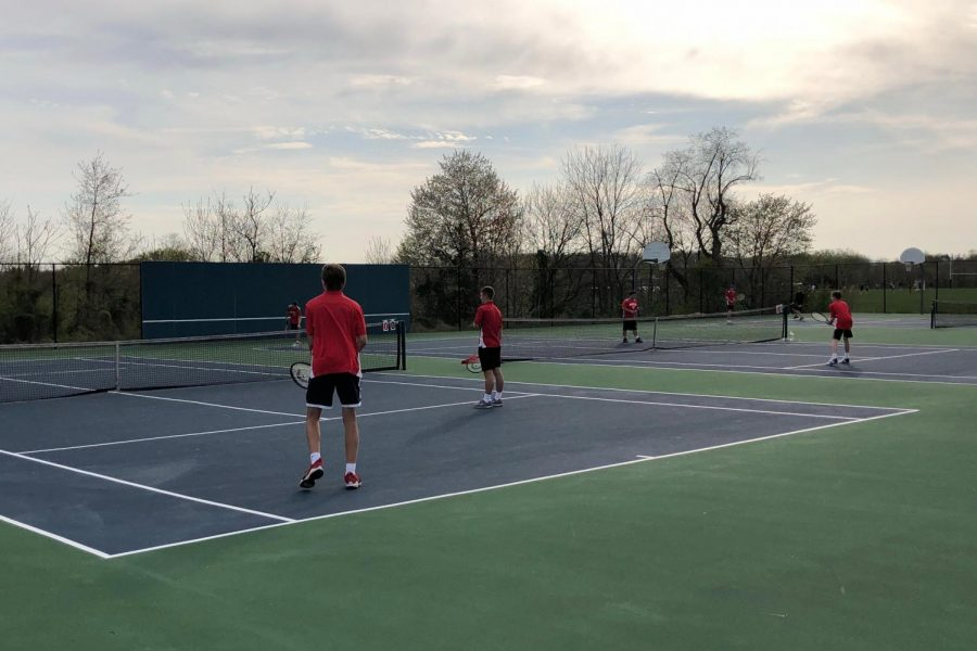 Boys and girls tennis lose to North Hagerstown: Photo of the Day 4/18/19