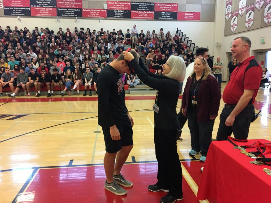 Spring pep rally showcases winter winners: Photo of the Day 4/12/19
