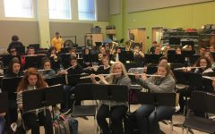Symphonic band practices in preparation for spring concert: Photo of the Day 4/17/19