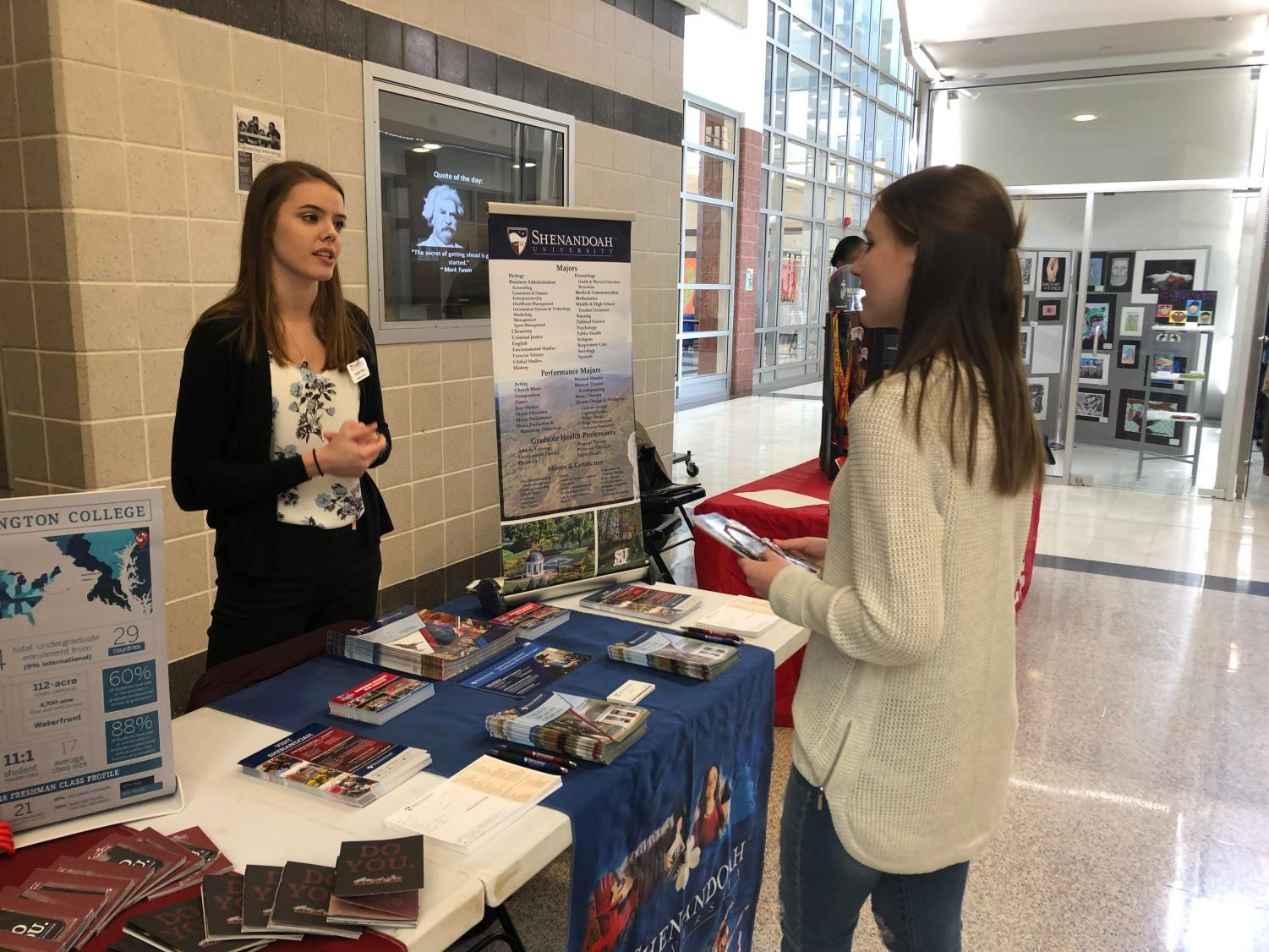 Sierra Rossman talked to Admissions Counselor Jennifer Reid from Shenandoah University.