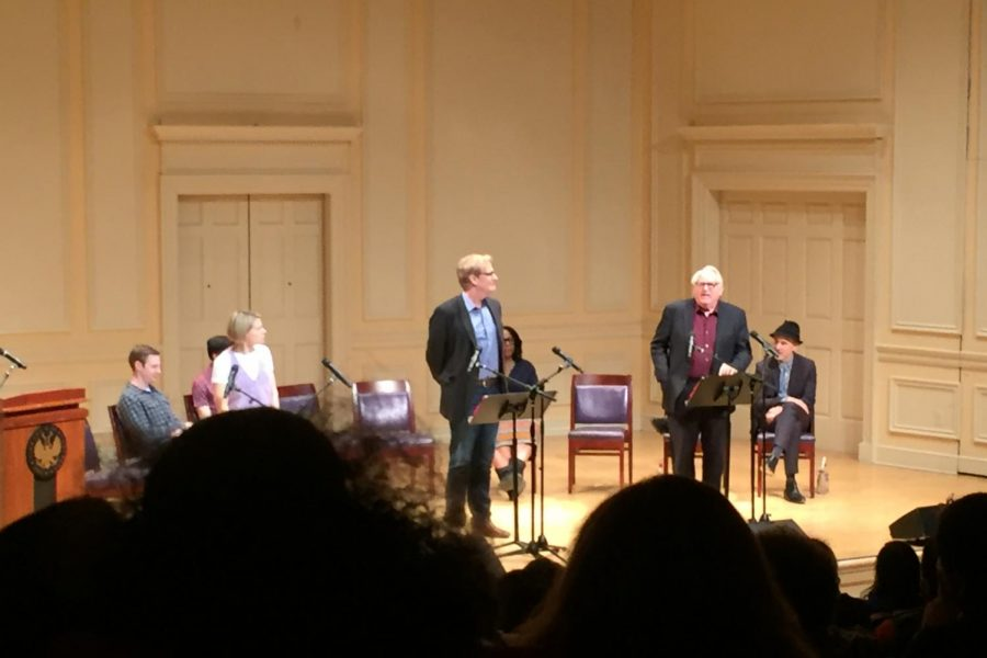 Jeff Daniels and Dakin Matthews perform a scene between Atticus Finch and Judge Taylor.