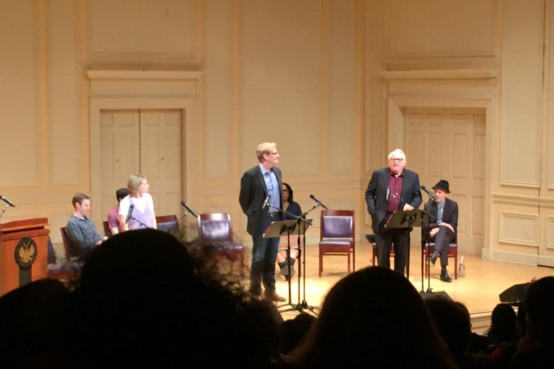 Jeff Daniels and Dakin Matthews perform a scene between Atticus Finch and Judge Taylor.