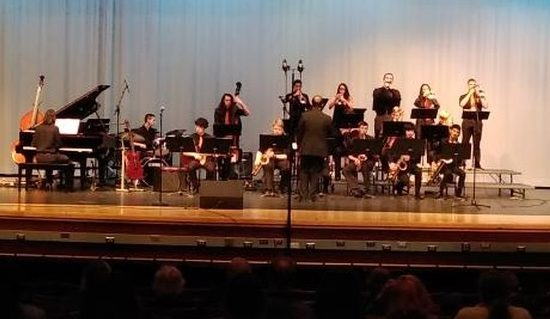 Linganore Ensemble performs at the All County Jazz Ensemble.