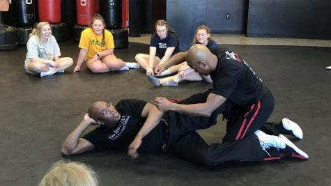 Girls strength training learns self defense at Strive Martial Arts: Photo of the Day 4/3/19