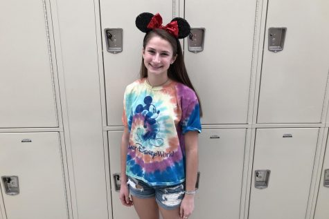 Sophomore, Ashley Nash dresses up in her Mickey mouse ears for Disney day.