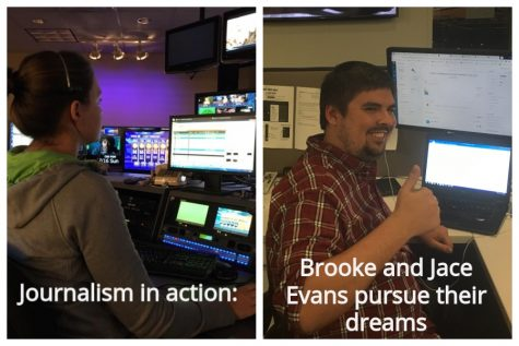 Brooke and Jace Evans make it big in difficult journalism field.