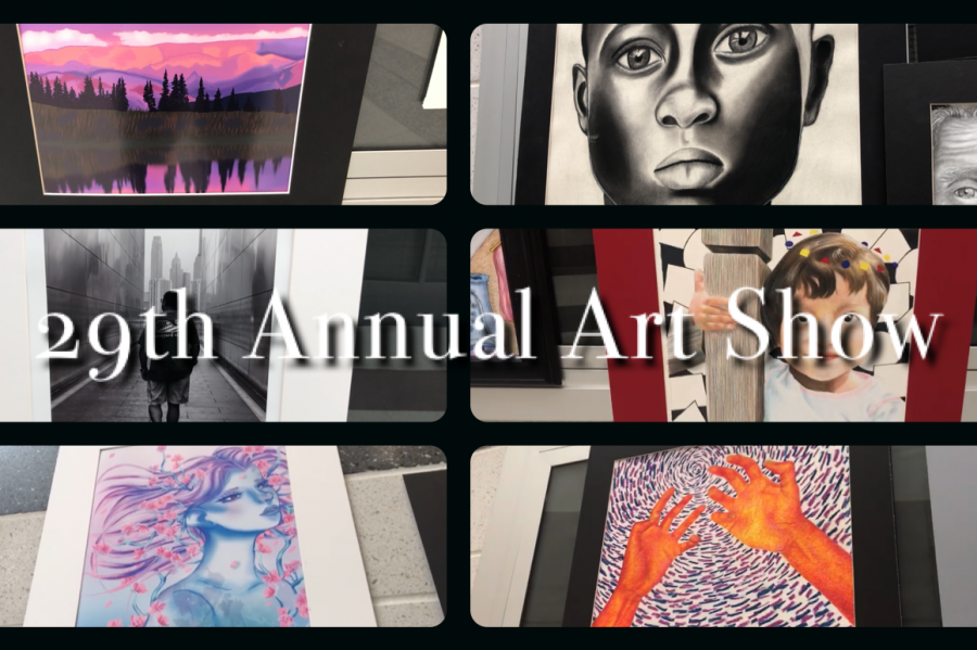 Seniors display their work in the 29th annual art show