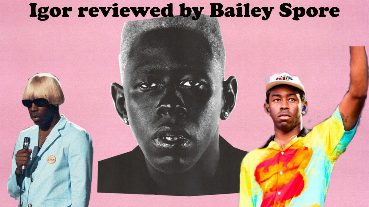 The album cover was a picture of Tyler with a wig on, in black and white over a pink background.
