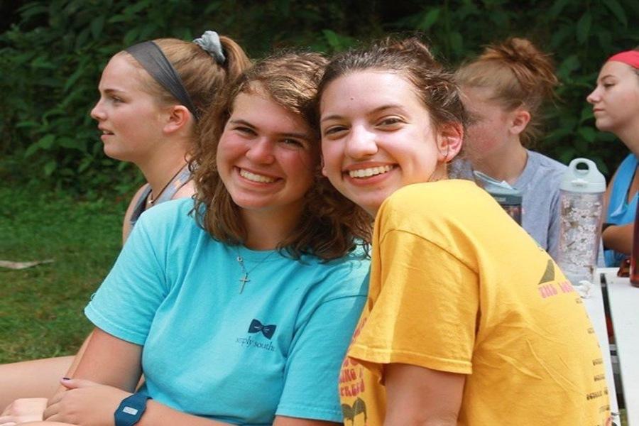 Katie Brengel (left) and her friend, Kathryn Gerogiannis (right) at Rockbridge in 2017.
