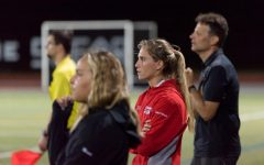 Paige Pohopin in full focus during the first home game of the season.