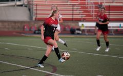 Meghan Mong-Kerwin handles the ball during the girls soccer scrimmage vs. Atholton.