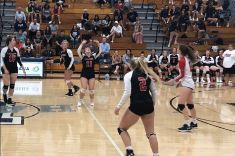 Varsity volleyball loses a tough fight against Urbana: Photo of the Day 9/27/19