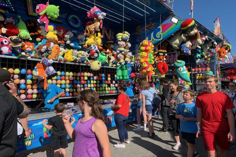 Many students attend the fair for rides and carnival games.