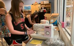 Sewtherapy:  PREP offers opportunity for students to learn to sew for charity