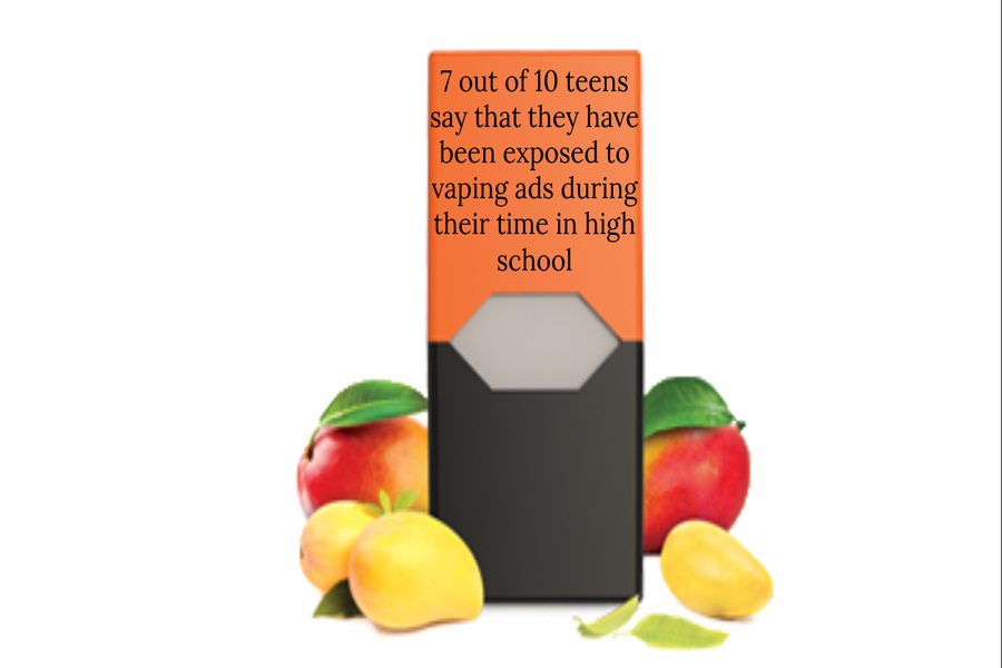 The mango Juul pod is just one of many flavors that attract teens to danger vapinng addiction.