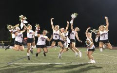 Field hockey seniors jump for joy on senior night: Photo of the Day 10/17/19