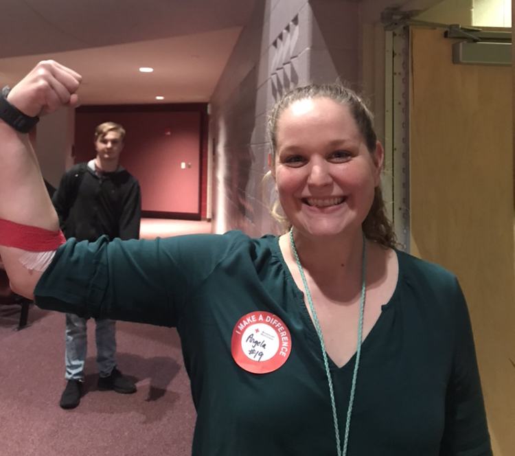 Donating blood and saving lives at the bi-annual blood drive: Photo of the Day 11/1/19