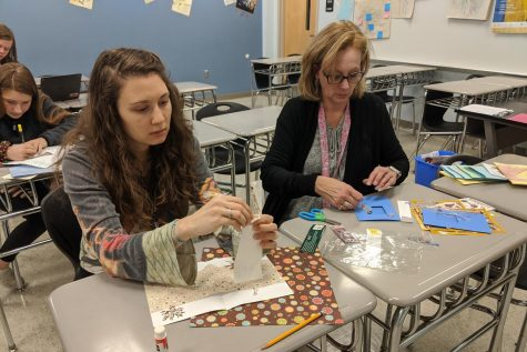 Students explore creative opportunities and make cards during Writer's Week