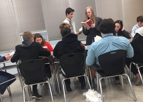 Lake's English class performs 12 Angry Men: Photo of the Day 11/22/19