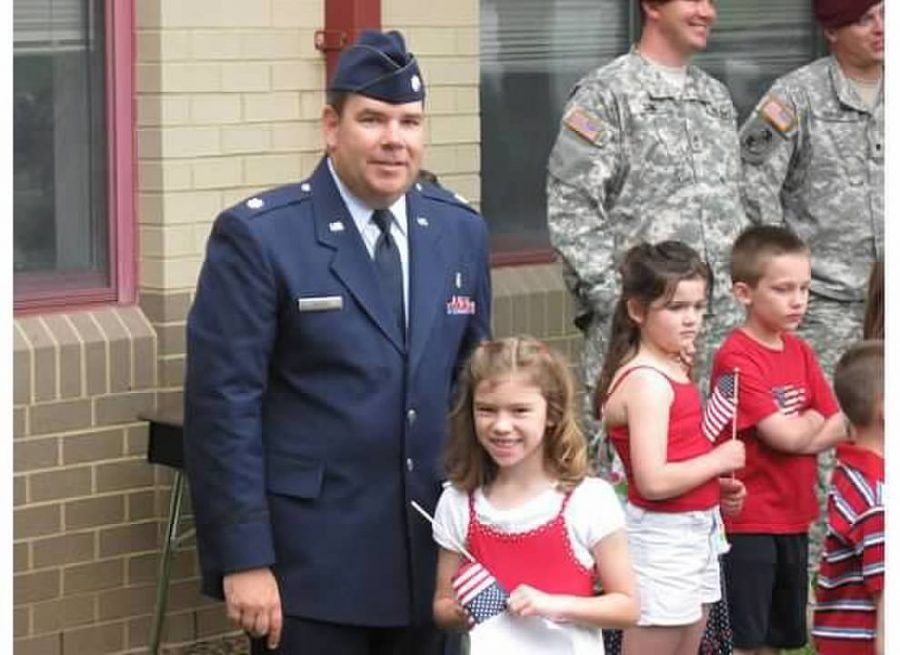 Elizabeth with her dad early in his military career as a pediatrician in the U.S. Air Force.