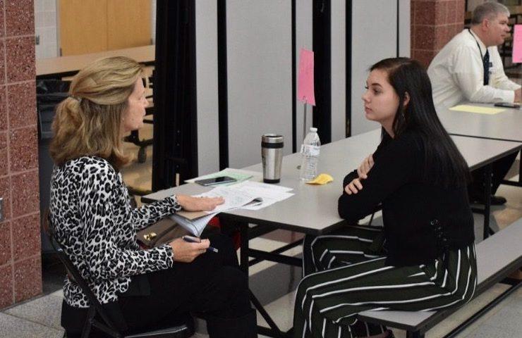 Adrianna Flickinger talks to Donna Dorman from Dorman Home Remdeling.