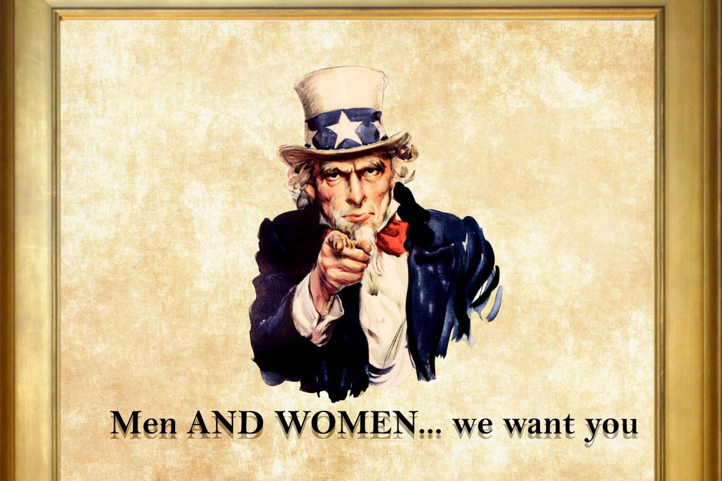 Uncle Sam should want men and women when trying to recruit for the military.