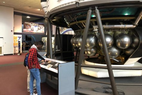NEHS and Mu Alpha Theta students admire exhibits at the Smithsonian National Air and Space Museum