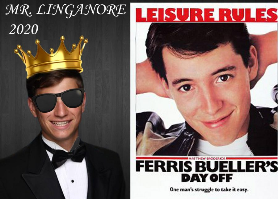 Weinel portrays high school hero Ferris Bueller in Mr. Linganore 2020