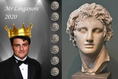 Max Ross looks to be the greatest Mr. Linganore contestant as Alexander the Great.