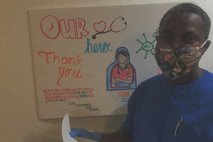 7:00 a.m.: Nurse-In-Charge Frank Apau leaves for work in Silver Spring, Metro Area 13 at Holy Cross Hospital. Frank is a front-line worker alongside nurses and doctors.