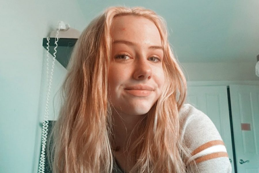 12:00 p.m.: Grace Blundin shows off her newly-bleached hair. She plans to dye it next month and she says she likely wouldn't have done this if she wasn't in quarantine.