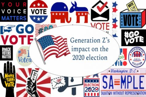 Graphic made to represent the iconic voting sticker people receive after casting their ballots.