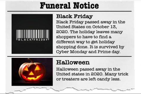 The funeral notice of two holidays that Covid-19 has cancelled.