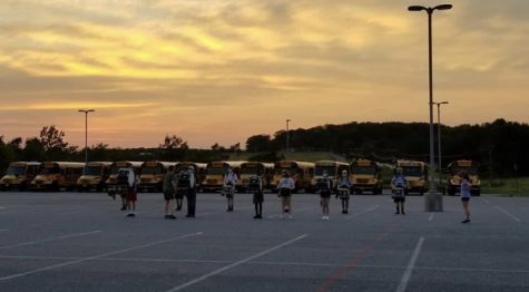 Linganore Drumline rehearses with new Covid-19 guidelines