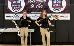 Lindsay and Aubrey Toothaker at the Indoor Nationals competition.