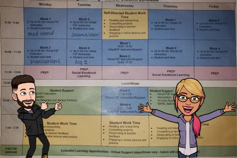 The virtual schedule takes  a lot of personal planning to keep on track--for both teachers and students.