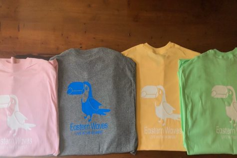 Steaphan Nolan's Eastern Waves t-shirts.