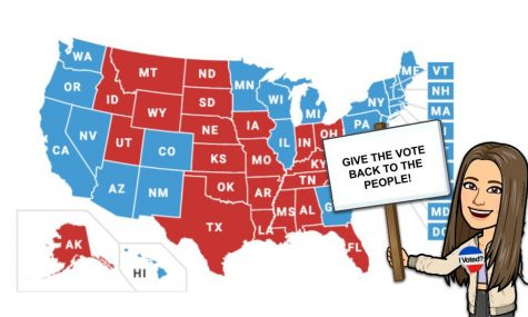 The Electoral College, give the vote back to the people.