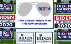 Yard signs show support for Joe Biden