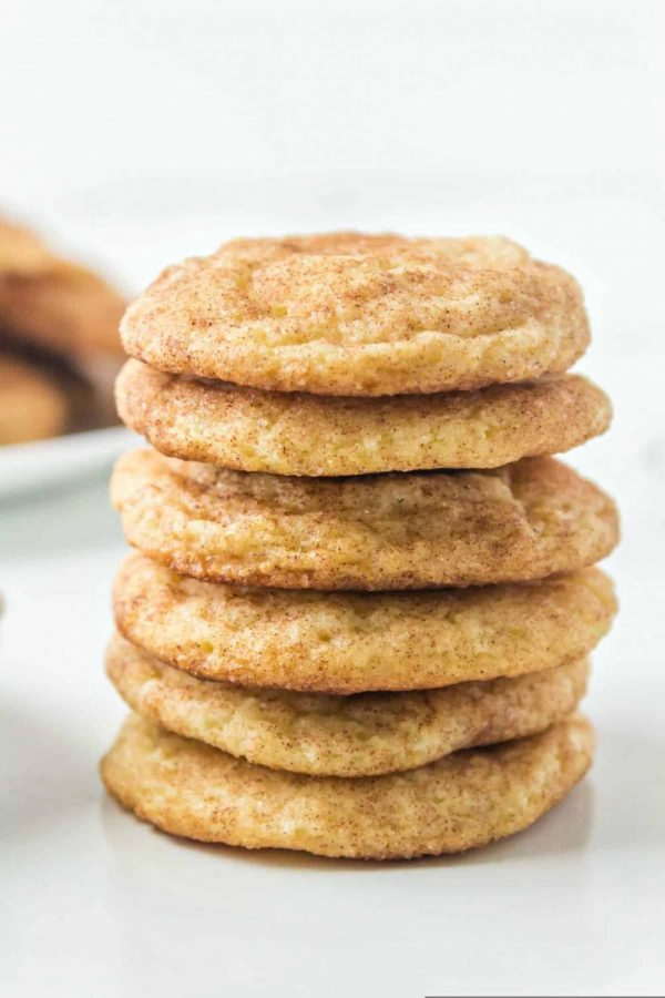 The sugary snickerdoodles stacked with a sweet touch