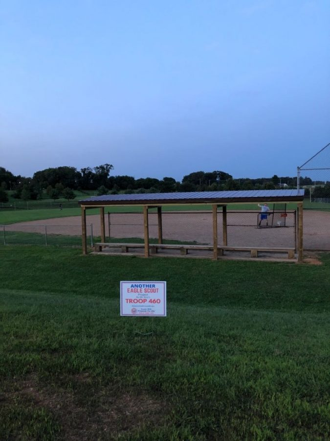 Sam Johnson contributes dugout to his community through Eagle Scout Project