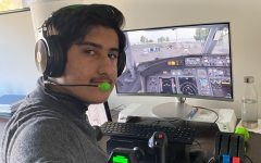 Shahmeer Chaudhry hopes to become a pilot. He has learned most of his skills from a flight simulator where he trains in realistic conditions, including the cockpit/flight deck, the plane type and current weather conditions.