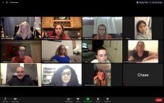 Girl Scout Troop 81240 meets with Dr. James Lawler on Zoom to discuss the facts and myths of Covid-19.